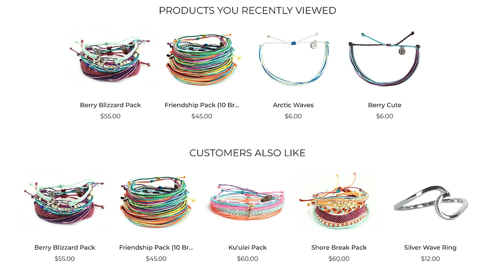 Pura Vida Bracelet's product recommendations