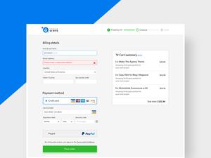 Simple checkout form
