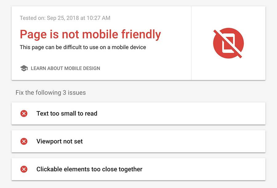 Google mobile-friendly tool
