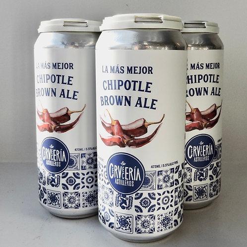 4 Pack - La Más Mejor Chipotle Brown Ale