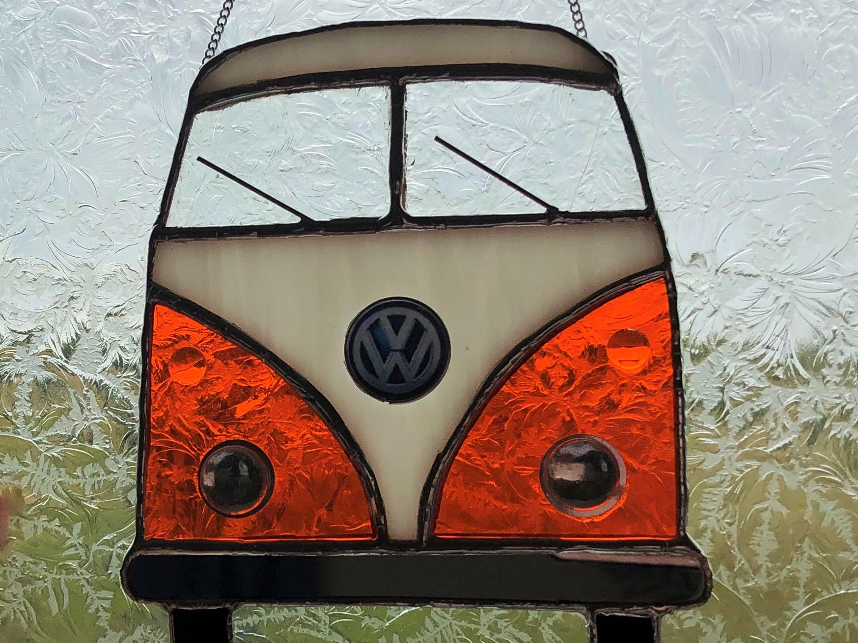 Orange & White VW Camper