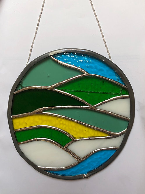 Suncatcher edged with lead came border