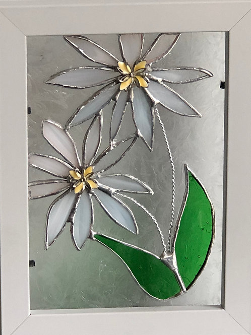 Framed Glass Flower