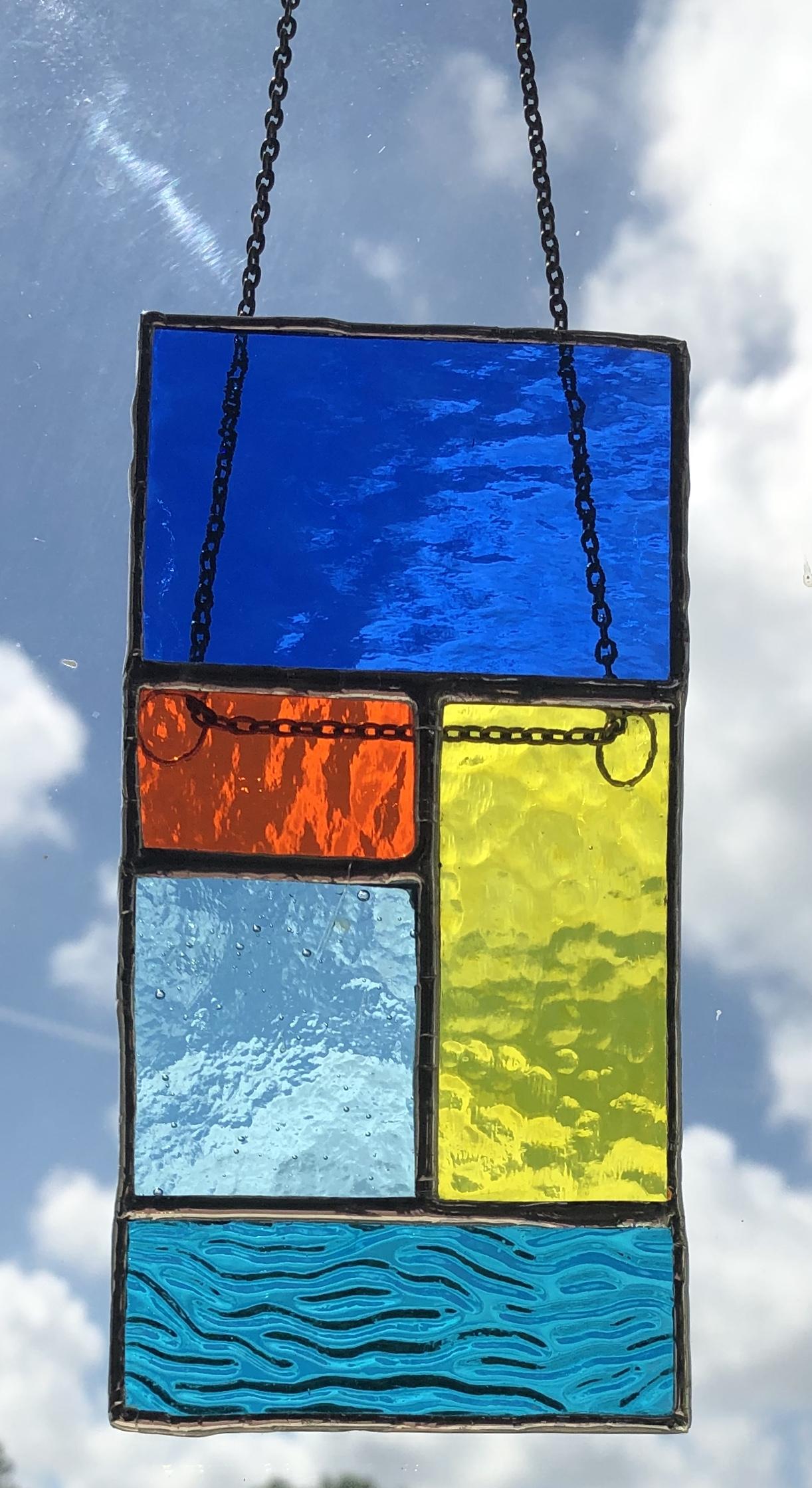 Multicolour abstract suncatcher