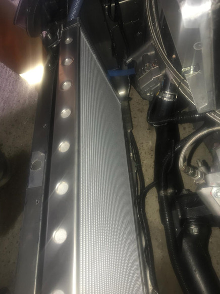 Honda radiator fabrication