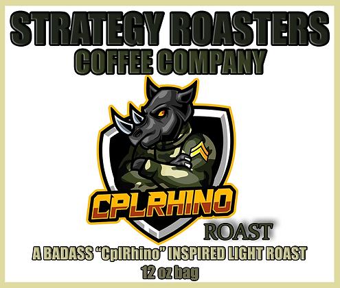 """CplRhino Roast"" A bad ass CplRhino inspired Light Roast"