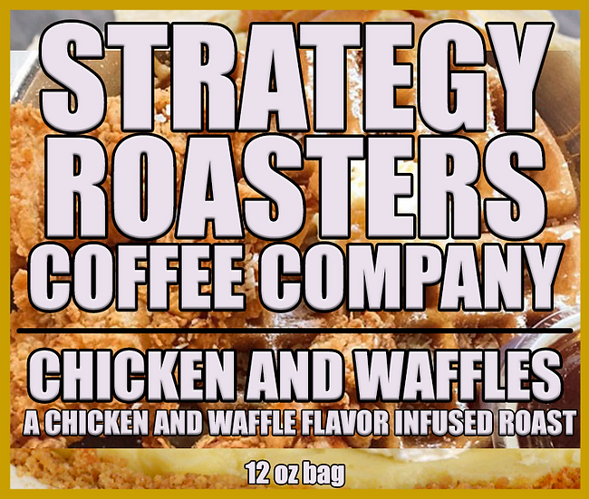 """""""CHICKEN AND WAFFLES""""  A Chicken and Waffles flavor infused roast"""