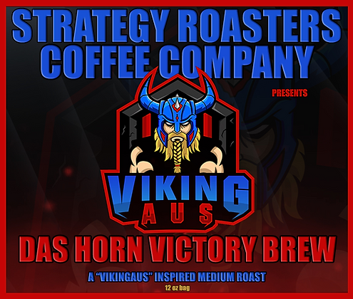 """DAS HORN VICTORY BREW"" A VikingAus"" Inspired Medium Roast"
