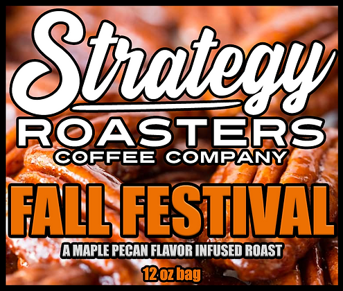 Fall Festival, a Limited Edition Maple Pecan flavor infused roast