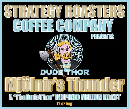 """""""Mjölnir's Thunder""""  A TheDudeThor Inspired Medium Roast"""
