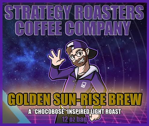 """""""GOLDEN SUN-RISE BREW"""" A CHOCOBOSE INSPIRED LIGHT ROAST"""