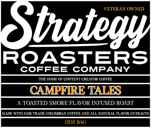 Campfire Tales, A Toasted Smore Flavor infused Roast