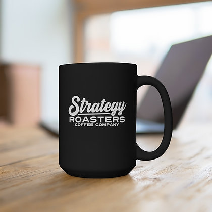 Strategy Black Mug 15oz