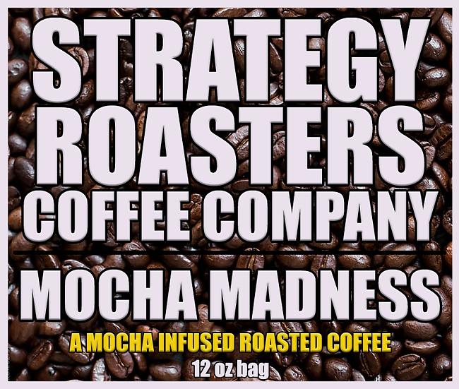 """Mocha Madness"" Light Roast Coffee (Ground) 12oz"