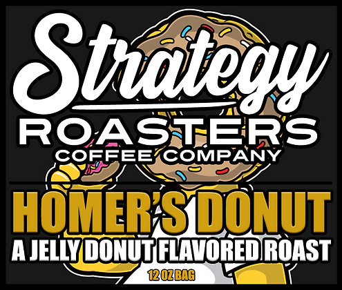 Homer's Donut, A Jelly Donut Flavor infused Roast