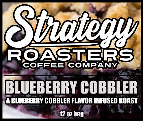 Blueberry Cobbler, a Blueberry Cobbler flavor infused roast