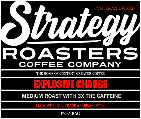 Explosive Charge, 3X the caffeine medium roast