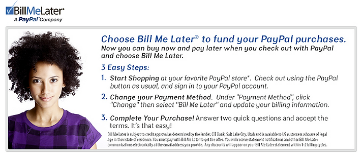 Introducing the options to have your products now and pay later.