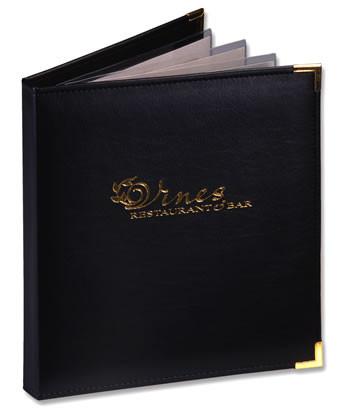 Một số mẫu bìa menu thường được may tại các xưởng - mẫu 12