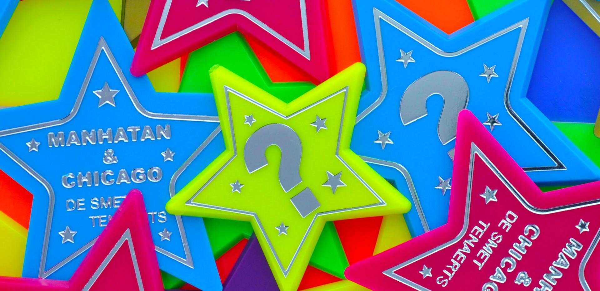 Star-shaped fairground tokens