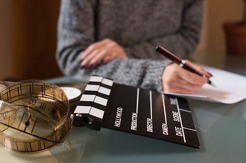 Artist screenwriter desktop detail with