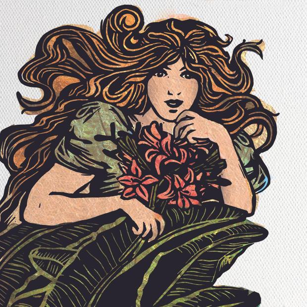 Tropical Girl illustration