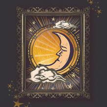 Moon and Stars illustration