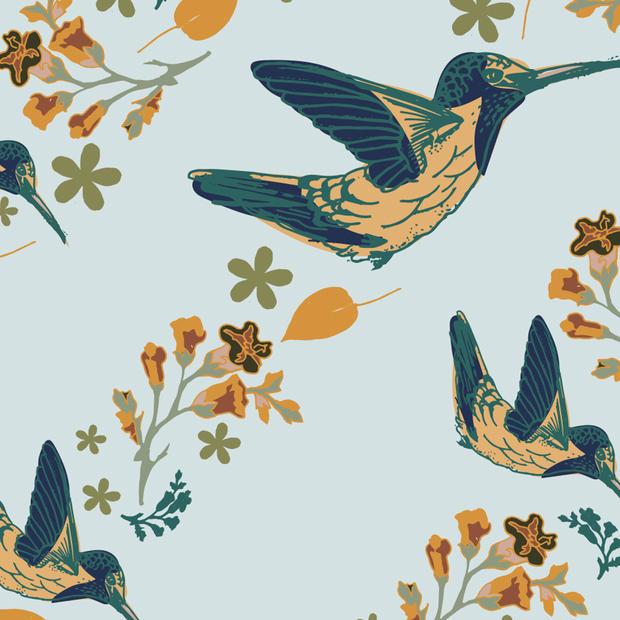 Hummingbirds pattern