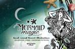 Mermaid Magic Linocut Illustrations