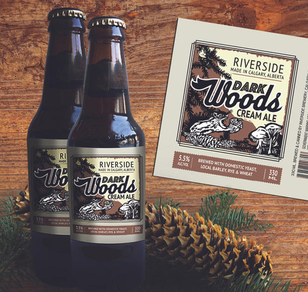Dark Woods Ale label
