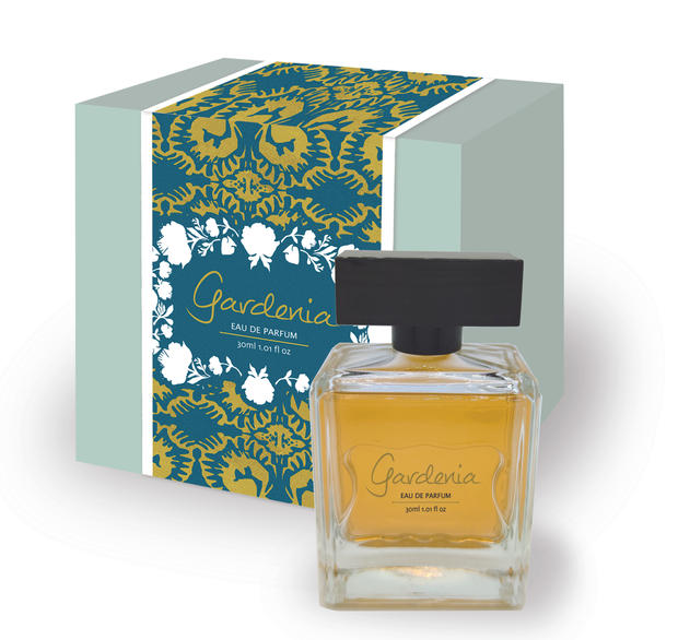 Gardenia perfume package design