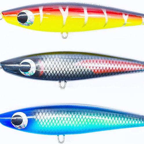 3 x 68 Gram Wood Stick Baits: colour pack C