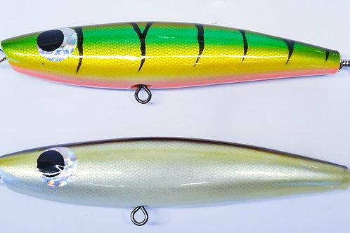 2 x 110 Gram Wood Stick Baits: colour pack A