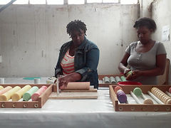 Hope Soap ladies produce the lavender soaps