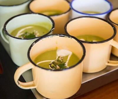 Green Pea & Lavender Soup
