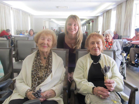 Highlands House ladies enjoying some Lavender