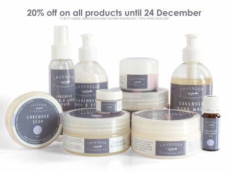 20% off on all products until 24 December
