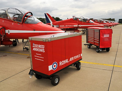 Red Arrows towable cabinet