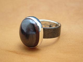 黒味銅のリング完成!