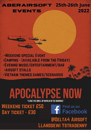 Apocalypse Now - Weekend Ticket including Rental package