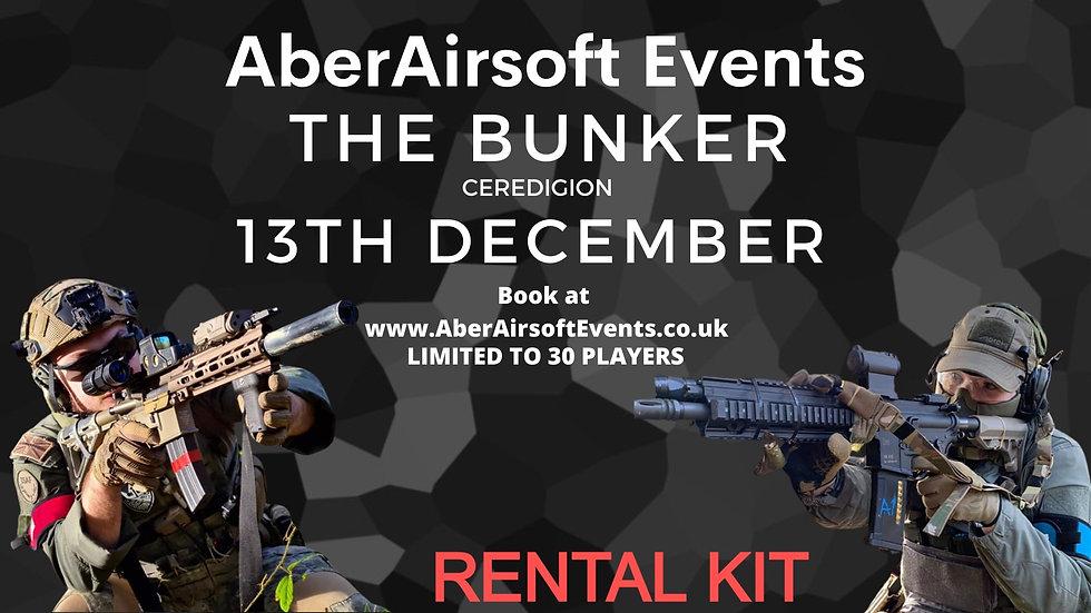 THE BUNKER - 13TH DECEMBER RENTAL KIT