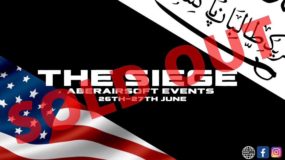 SOLD OUT- The Siege 24hr Milsim - American 🔵  (Deposit)