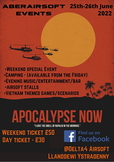 Apocalypse Now -Day Ticket including Rental Package