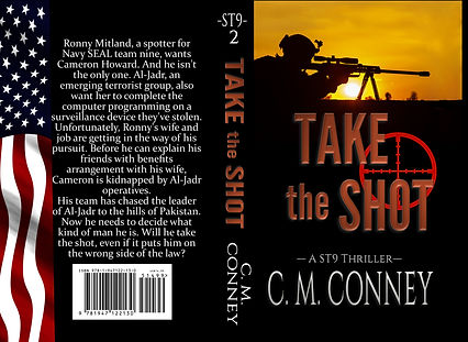 Book Cover, Thriller, man shooting a rifle