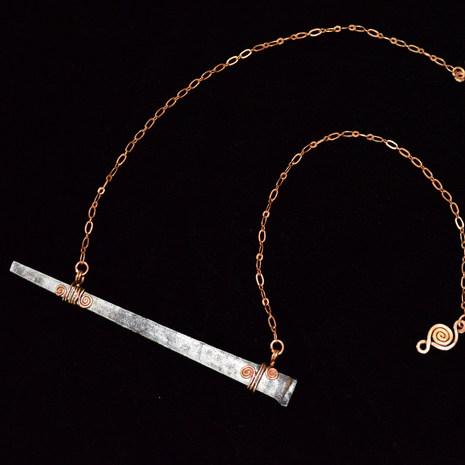 Vintage Square Nail Necklace