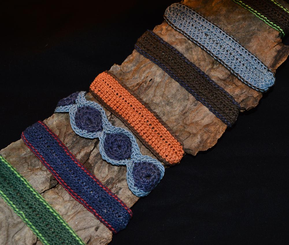 bracelets .cotton .hemp .crocheted