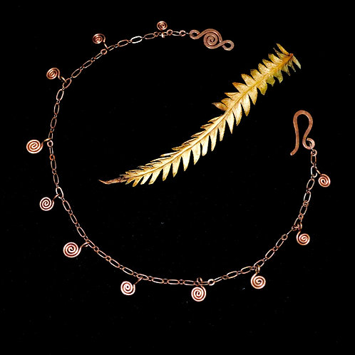 SPIRAL ANKLET . NECKLACE