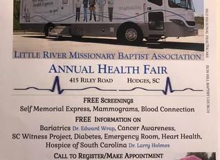 Annual Health Fair (April 27th)