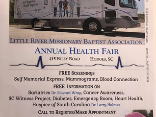 Annual Health Fair (April 27th)