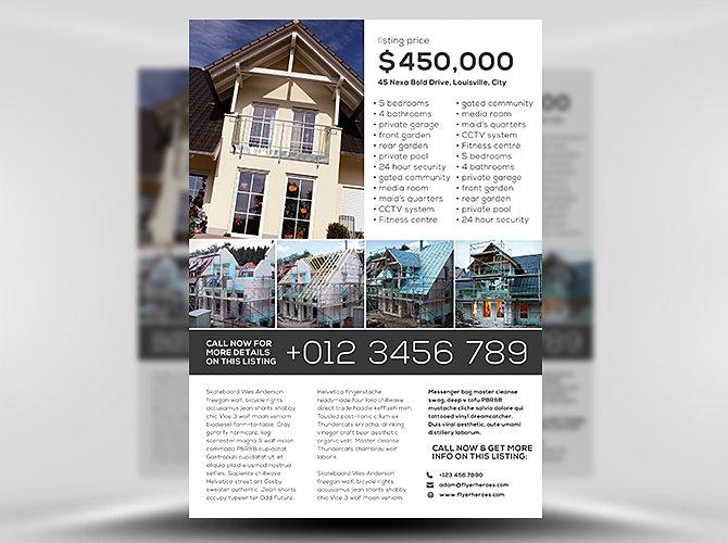 ... design, Wix Pro, Near St. Louis | Simple-Real-Estate-Flyer-Template